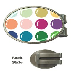 Brights Pastels Bubble Balloon Color Rainbow Money Clips (Oval)