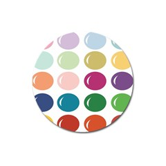 Brights Pastels Bubble Balloon Color Rainbow Magnet 3  (Round)