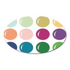 Brights Pastels Bubble Balloon Color Rainbow Oval Magnet