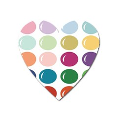 Brights Pastels Bubble Balloon Color Rainbow Heart Magnet