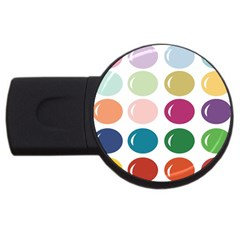 Brights Pastels Bubble Balloon Color Rainbow USB Flash Drive Round (1 GB)