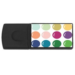 Brights Pastels Bubble Balloon Color Rainbow USB Flash Drive Rectangular (1 GB)