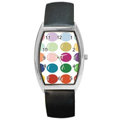 Brights Pastels Bubble Balloon Color Rainbow Barrel Style Metal Watch
