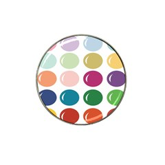 Brights Pastels Bubble Balloon Color Rainbow Hat Clip Ball Marker (10 pack)