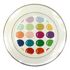 Brights Pastels Bubble Balloon Color Rainbow Porcelain Plates