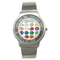 Brights Pastels Bubble Balloon Color Rainbow Stainless Steel Watch