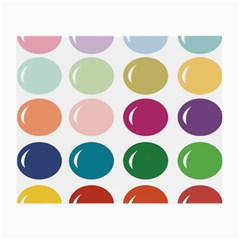 Brights Pastels Bubble Balloon Color Rainbow Small Glasses Cloth (2-Side)