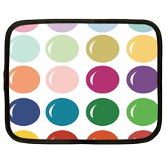 Brights Pastels Bubble Balloon Color Rainbow Netbook Case (Large)