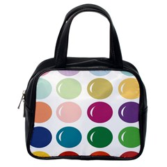 Brights Pastels Bubble Balloon Color Rainbow Classic Handbags (One Side)