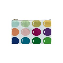 Brights Pastels Bubble Balloon Color Rainbow Cosmetic Bag (Small)