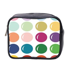 Brights Pastels Bubble Balloon Color Rainbow Mini Toiletries Bag 2-Side