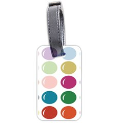 Brights Pastels Bubble Balloon Color Rainbow Luggage Tags (Two Sides)