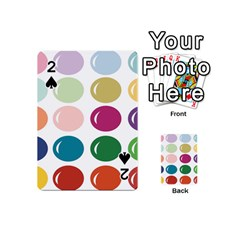 Brights Pastels Bubble Balloon Color Rainbow Playing Cards 54 (Mini)