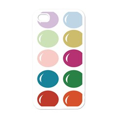 Brights Pastels Bubble Balloon Color Rainbow Apple iPhone 4 Case (White)