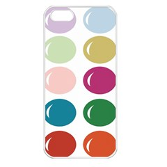 Brights Pastels Bubble Balloon Color Rainbow Apple iPhone 5 Seamless Case (White)
