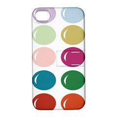 Brights Pastels Bubble Balloon Color Rainbow Apple iPhone 4/4S Hardshell Case with Stand