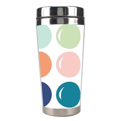 Brights Pastels Bubble Balloon Color Rainbow Stainless Steel Travel Tumblers