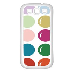 Brights Pastels Bubble Balloon Color Rainbow Samsung Galaxy S3 Back Case (White)
