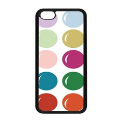 Brights Pastels Bubble Balloon Color Rainbow Apple iPhone 5C Seamless Case (Black)