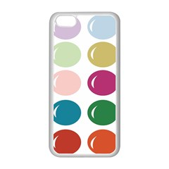 Brights Pastels Bubble Balloon Color Rainbow Apple iPhone 5C Seamless Case (White)