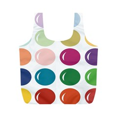 Brights Pastels Bubble Balloon Color Rainbow Full Print Recycle Bags (M)