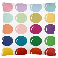 Brights Pastels Bubble Balloon Color Rainbow Large Flano Cushion Case (One Side)