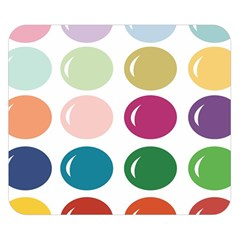 Brights Pastels Bubble Balloon Color Rainbow Double Sided Flano Blanket (Small)