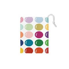 Brights Pastels Bubble Balloon Color Rainbow Drawstring Pouches (XS)