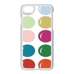Brights Pastels Bubble Balloon Color Rainbow Apple iPhone 7 Seamless Case (White)