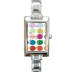 Brights Pastels Bubble Balloon Color Rainbow Rectangle Italian Charm Watch