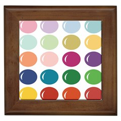 Brights Pastels Bubble Balloon Color Rainbow Framed Tiles