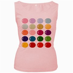 Brights Pastels Bubble Balloon Color Rainbow Women s Pink Tank Top