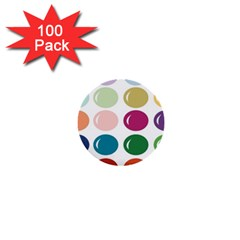 Brights Pastels Bubble Balloon Color Rainbow 1  Mini Buttons (100 pack)