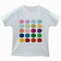 Brights Pastels Bubble Balloon Color Rainbow Kids White T Shirts