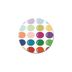 Brights Pastels Bubble Balloon Color Rainbow Golf Ball Marker (10 pack)