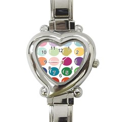 Brights Pastels Bubble Balloon Color Rainbow Heart Italian Charm Watch