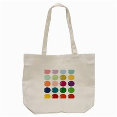 Brights Pastels Bubble Balloon Color Rainbow Tote Bag (Cream)