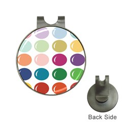 Brights Pastels Bubble Balloon Color Rainbow Hat Clips with Golf Markers