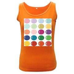 Brights Pastels Bubble Balloon Color Rainbow Women s Dark Tank Top