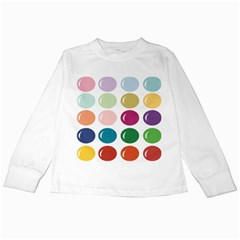 Brights Pastels Bubble Balloon Color Rainbow Kids Long Sleeve T-Shirts