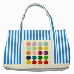 Brights Pastels Bubble Balloon Color Rainbow Striped Blue Tote Bag