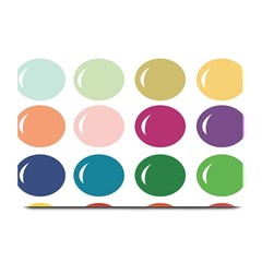 Brights Pastels Bubble Balloon Color Rainbow Plate Mats