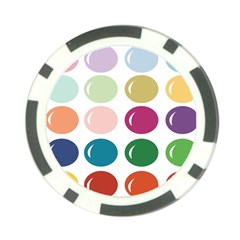 Brights Pastels Bubble Balloon Color Rainbow Poker Chip Card Guard