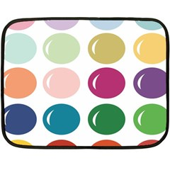 Brights Pastels Bubble Balloon Color Rainbow Double Sided Fleece Blanket (Mini)