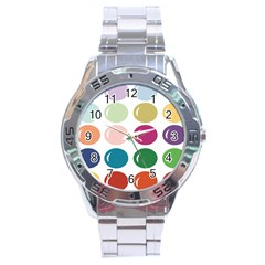 Brights Pastels Bubble Balloon Color Rainbow Stainless Steel Analogue Watch