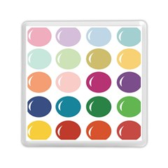 Brights Pastels Bubble Balloon Color Rainbow Memory Card Reader (Square)