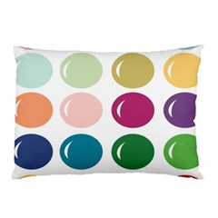 Brights Pastels Bubble Balloon Color Rainbow Pillow Case (Two Sides)