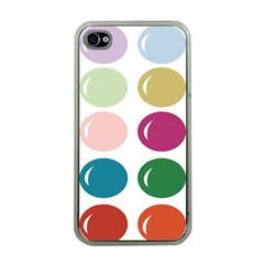 Brights Pastels Bubble Balloon Color Rainbow Apple iPhone 4 Case (Clear)