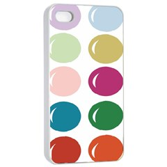 Brights Pastels Bubble Balloon Color Rainbow Apple iPhone 4/4s Seamless Case (White)