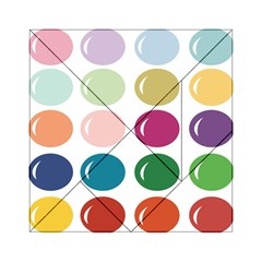 Brights Pastels Bubble Balloon Color Rainbow Acrylic Tangram Puzzle (6  x 6 )